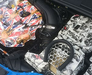 Cards and Flags Focus RS Engine Bay