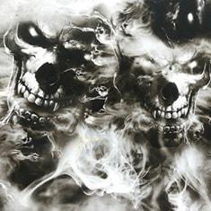 Smoking Skulls Hydro Dipping Pattern