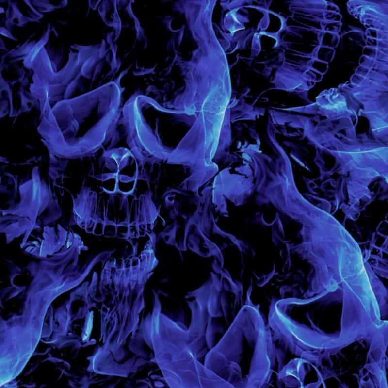 Blue Inferno Skulls Hydro Dipping Pattern