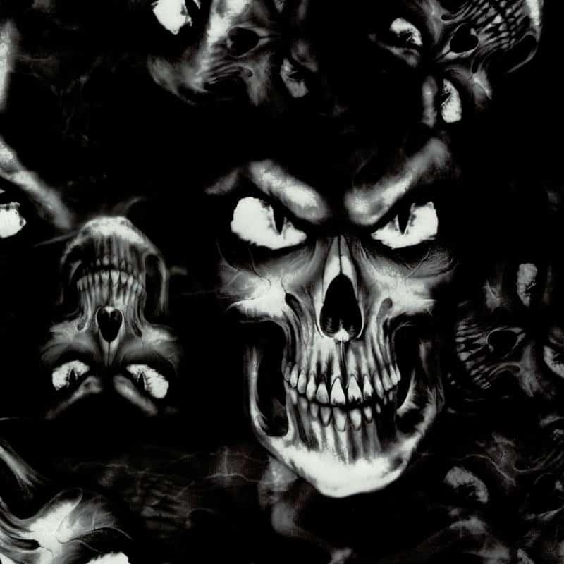 Giant Skulls Hydro Dipping Pattern