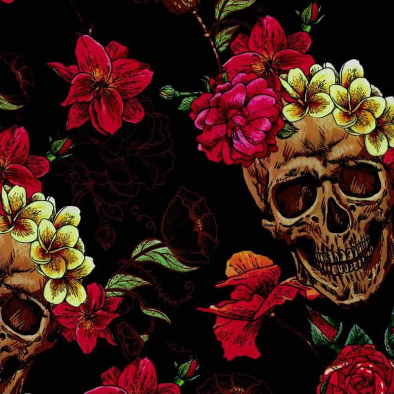 Skulls and Roses Hydro Dipping Pattern