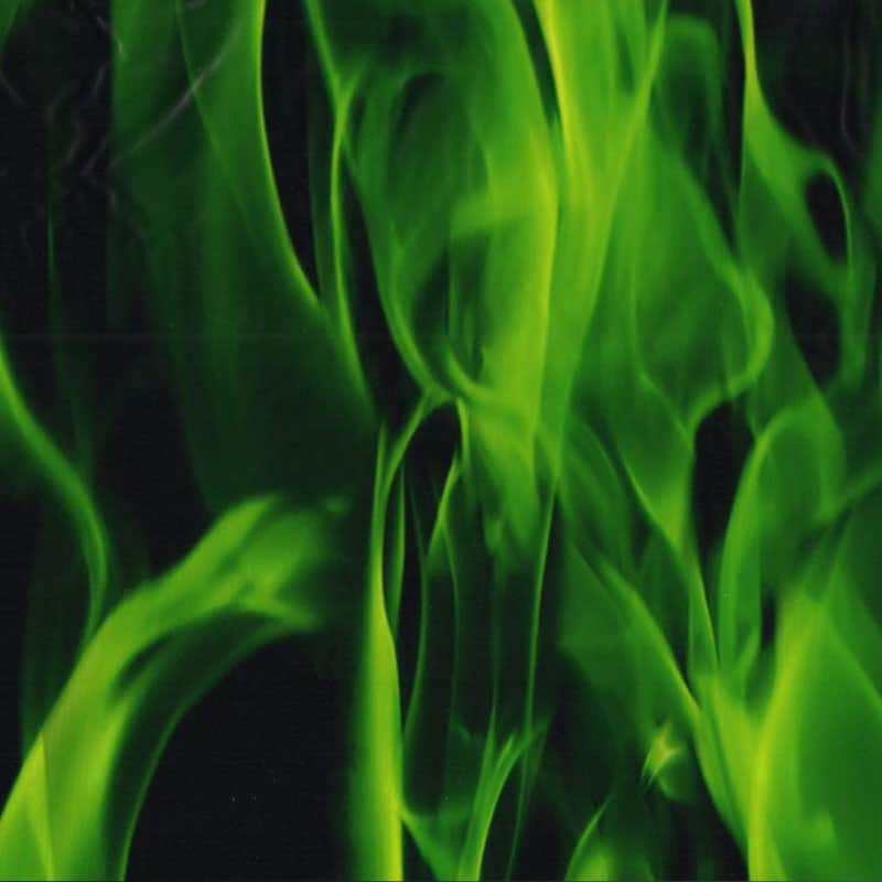 True Green Flames Hydro Dipping Pattern