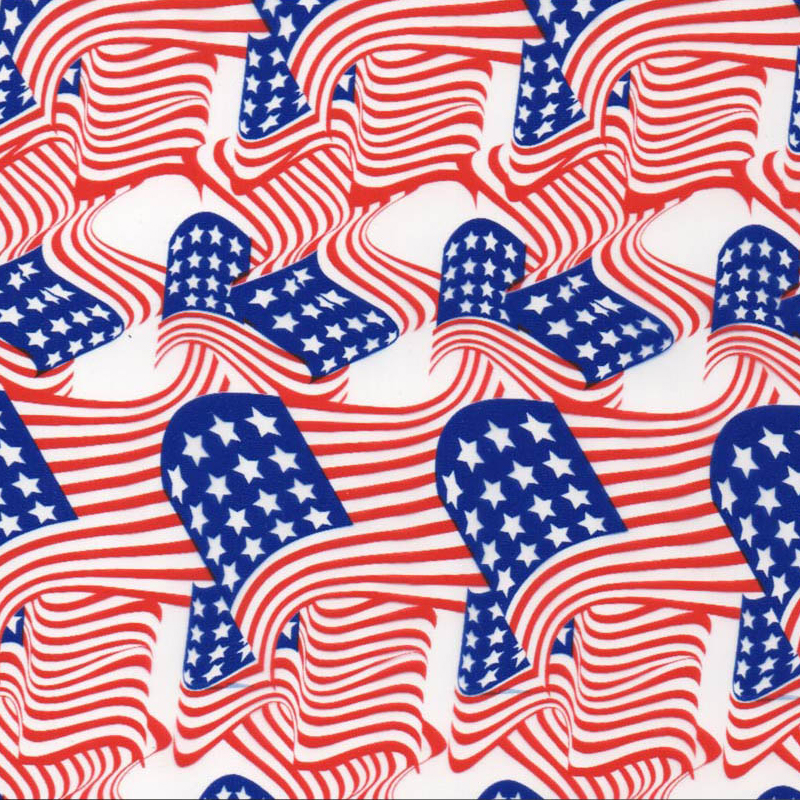 American Flag Hydro Dipping Pattern