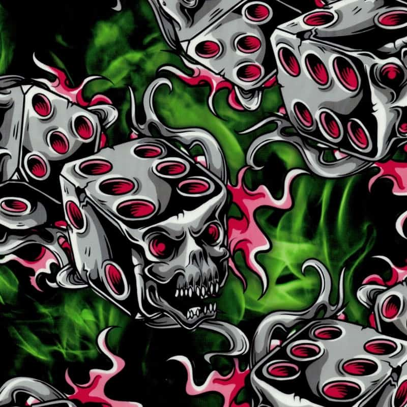 Green Flaming Die Hydro Dipping Pattern