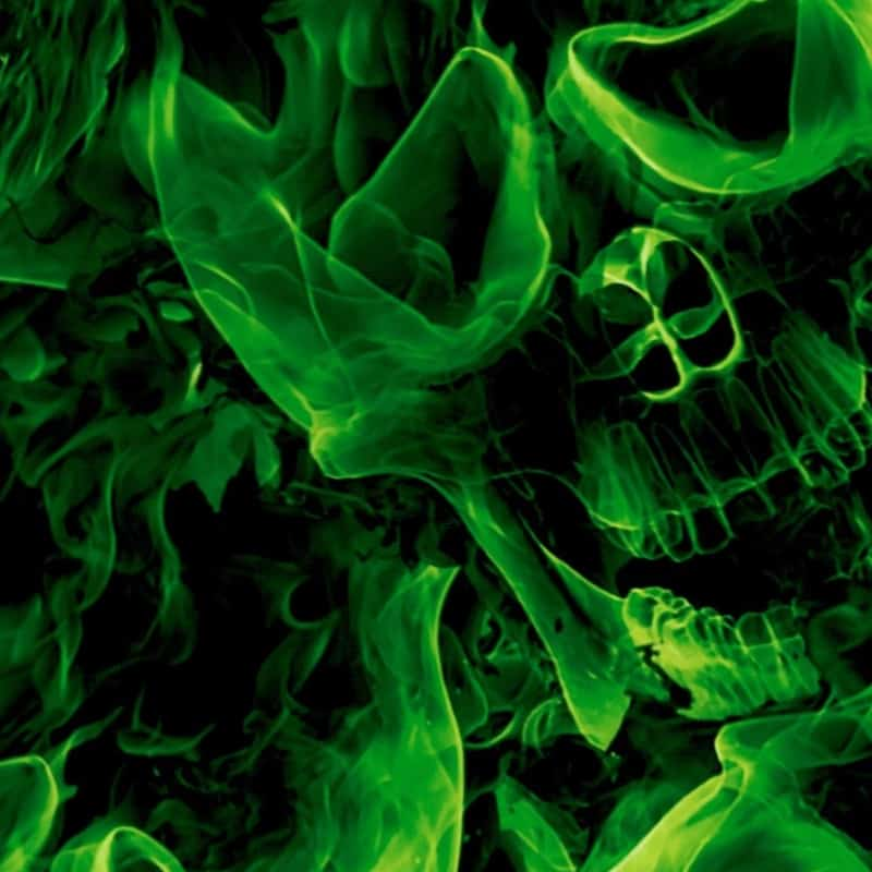 Green Inferno Skulls Hydro Dipping Pattern