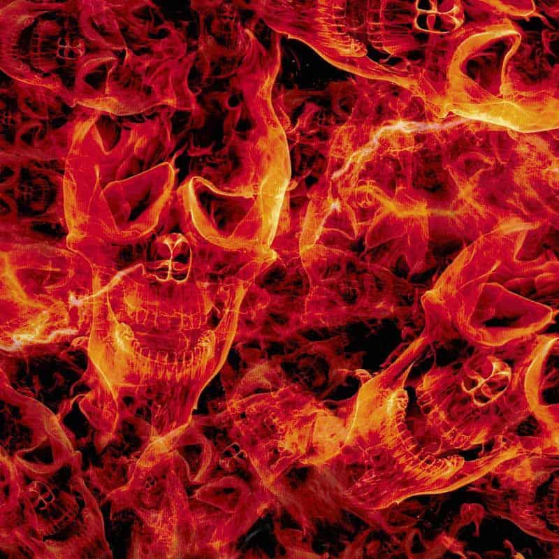 Inferno Skulls Hydro Dipping Pattern