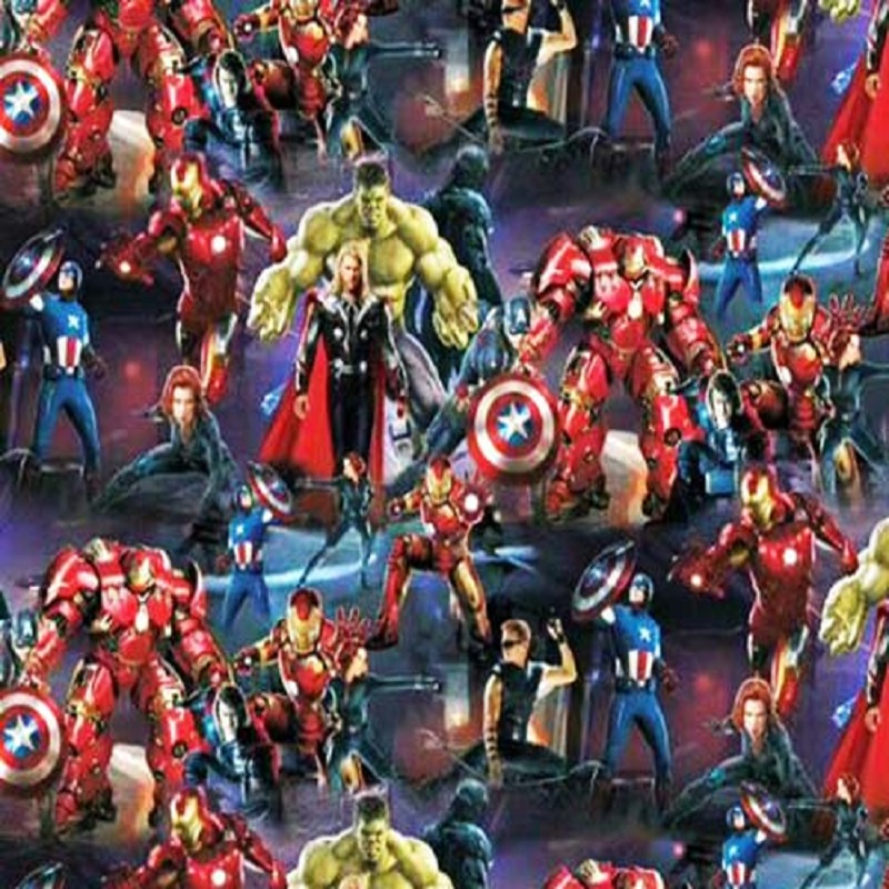 Marvel Heroes Hydro Dipping Pattern