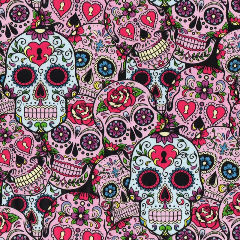 Mexican Death Skulls Hydro Dipping Pattern