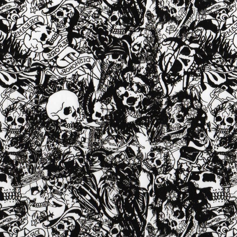 Tattoo Skulls Hydro Dipping Pattern