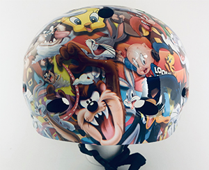 BMX / Scooter / Skateboard helmet hydro dipped in Looney Tunes